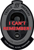 Triple fff I Can�t Remember - Stout