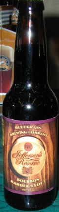 Bluegrass Jeffersons Reserve Bourbon Barrel Stout
