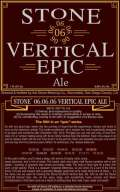Stone 06.06.06 Vertical Epic Ale