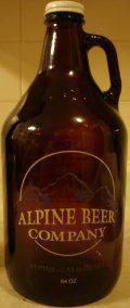 Alpine Beer Company Captain Stout - Vanilla - Sweet Stout