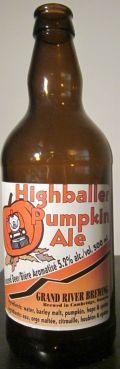Grand River Highballer Pumpkin Ale