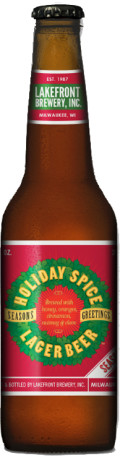 Lakefront Holiday Spice Lager Beer