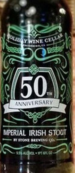 Stone Holiday Wine Cellar 50th Anniversary Imperial Irish