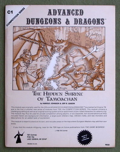Hidden Shrine of Tamoachan (Advanced Dungeons & Dragons Module C1), Harold Johnson & Jeff R. Leason