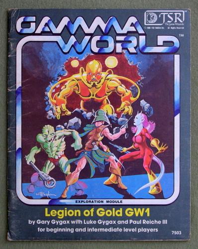 Legion of Gold (Gamma World Module GW1) - PLAY COPY, Gary Gygax & Luke Gygax & Paul Reiche III