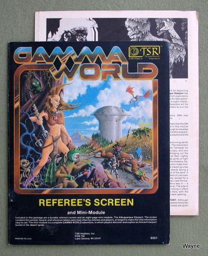 Referee's Screen and Mini-Module (Gamma World RPG 1st edition) - PLAY SET
