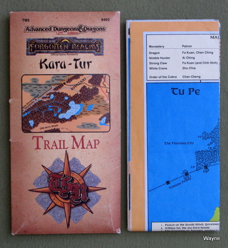 Kara-Tur Trail Map (Advanced Dungeons & Dragons Forgotten Realms TM5)