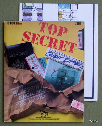 Orient Express (Top Secret RPG module TS005) - PLAY COPY, David Cook