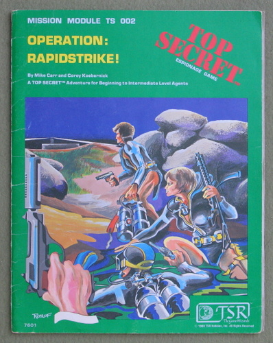 Operation: Rapidstrike! (Top Secret RPG Module TS002) - PLAY COPY, Merle Rasmussen