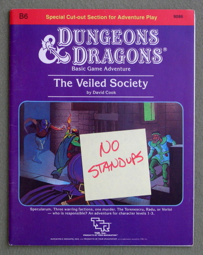 The Veiled Society (Dungeons & Dragons Module B6) - MISSING STANDUPS, David Cook