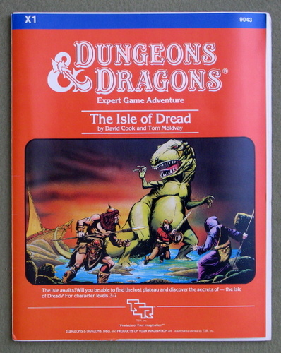 The Isle of Dread (Dungeons & Dragons Adventure X1), David Cook & Tom Moldvay