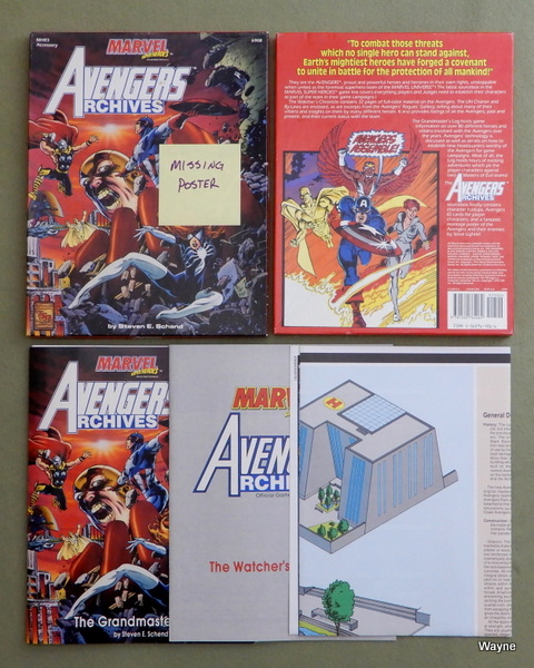 Avengers Archives (Marvel Super Heroes Accessory MHR3) - MISSING POSTER