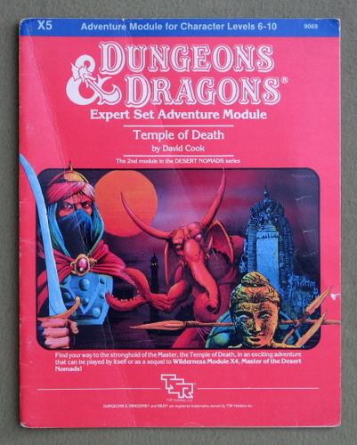 Temple of Death (Dungeons and Dragons Module X5) - PLAY COPY, David Cook