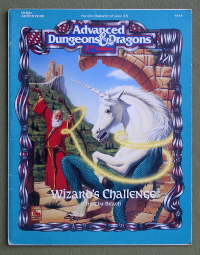 Wizard's Challenge (Advanced Dungeons & Dragons, 2nd Edition Module HHQ2) - PLAY COPY, Tim Beach