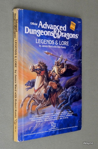 Legends & Lore (Advanced Dungeons & Dragons, 1st Edition) - PLAY COPY, James Ward & Rob Kuntz