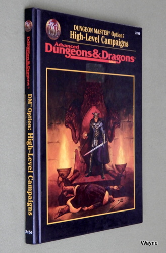Dungeon Master Option: High-Level Campaigns (Advanced Dungeons & Dragons, 2nd Edition, Revised)