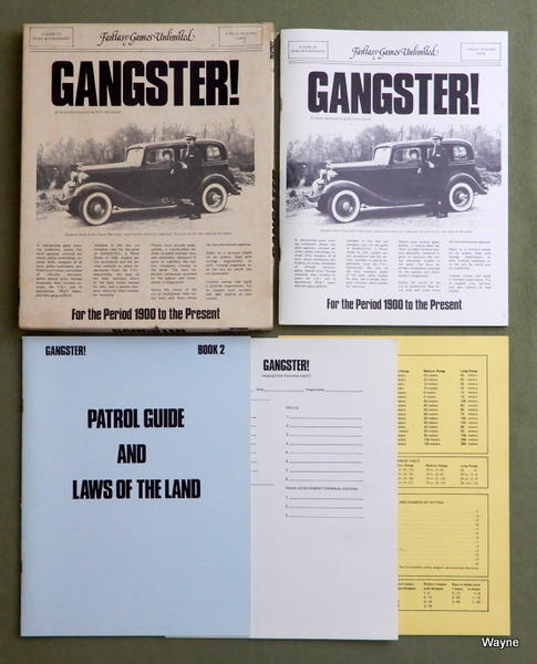 Gangster! - A Game of Crime and Punishment, Nick Marinacci & Pete Petrone