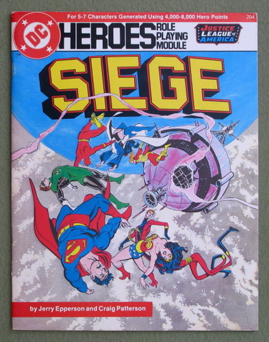 Siege (DC Heroes role playing game), Jerry Epperson & Craig Patterson