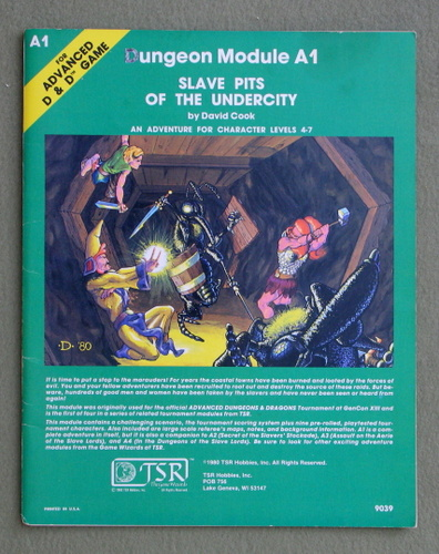 Slave Pits of the Undercity (Advanced Dungeons & Dragons/AD&D Module A1), David Cook