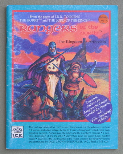 Rangers of the North (Middle Earth Role Playing/MERP) - PLAY COPY, John D. Ruemmler & Terry K. Amthor & Peter C. Fenlon