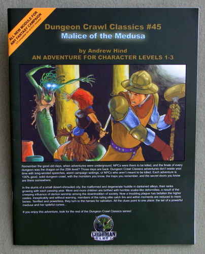 Malice of the Medusa (Dungeon Crawl Classics 45), Andrew Hind