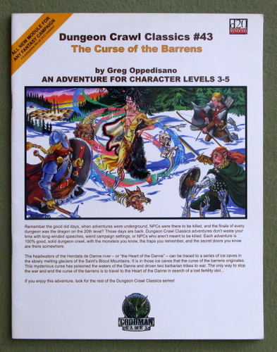 Curse of the Barrens (Dungeon Crawl Classics 43), Greg Oppedisano