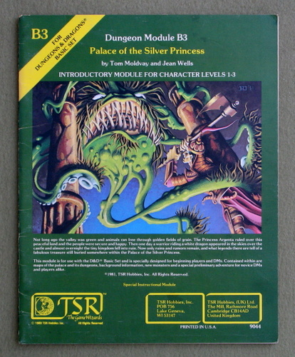 Palace of the Silver Princess (Dungeons & Dragons Module B3), Tom Moldvay & Jean Wells