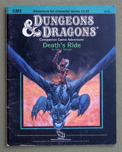 Death's Ride (Dungeons & Dragons module CM2) - PLAY COPY, Gary Spiegle