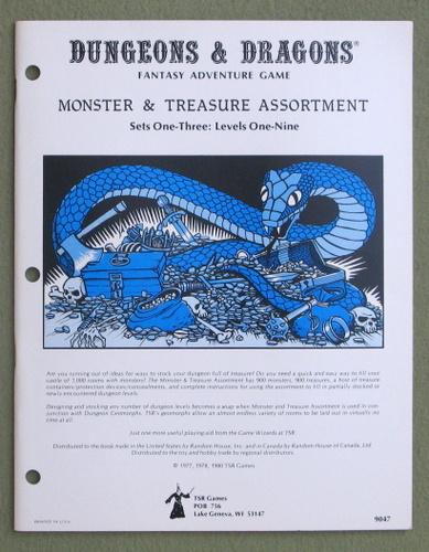 Dungeons & Dragons Monster & Treasure Assortment: Set One-Three: Levels One-Nine