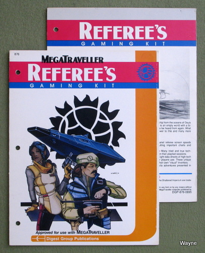 MegaTraveller Referee's Gaming Kit - SCREENS ONLY