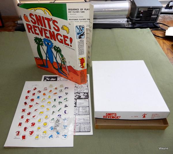 Snit's Revenge, 1st Edition - WRAPAROUND GAME BOARD, Tom Wham