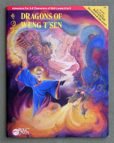 Dragons of Weng T'sen (Advanced Dungeons & Dragons: Role Aids), Delbert Carr Jr. & Cheron