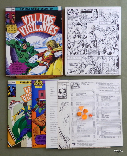Villains & Vigilantes (Revised Edition), Jeff Dee & Jack Herman