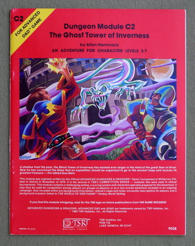 The Ghost Tower of Inverness (Advanced Dungeons & Dragons module C2), Allen Hammack