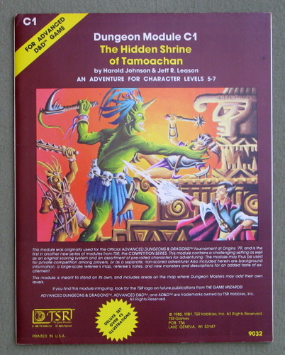 Hidden Shrine of Tamoachan (Advanced Dungeons & Dragons Module C1), Harold Johnson & Jeff R. Leason