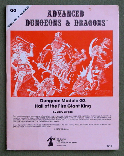 Hall of the Fire Giant King (Advanced Dungeons & Dragons Module G3), Gary Gygax