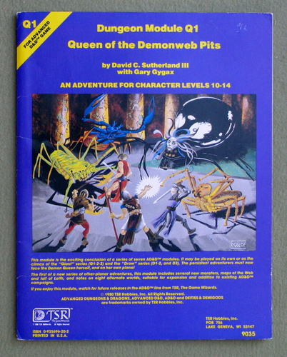 Queen of Demonweb Pits (Advanced Dungeons & Dragons module Q1), David C. Sutherland & Gary Gygax
