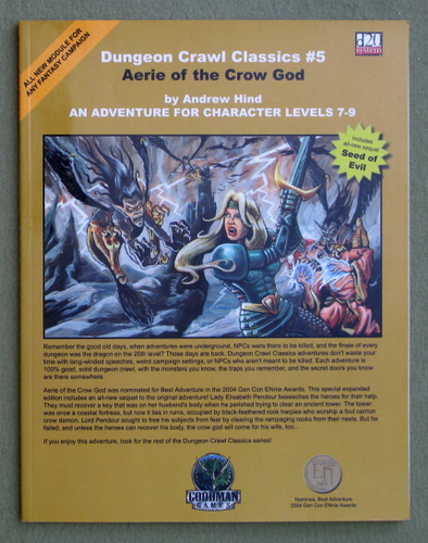 Aerie of the Crow God (Dungeon Crawl Classics 5), Andrew Hind