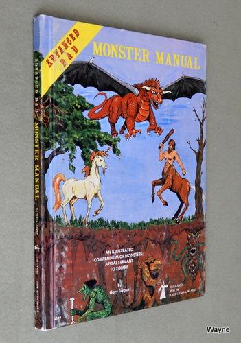 Monster Manual (Advanced Dungeons & Dragons, 1st Edition, 4th Gamma Print), Gary Gygax