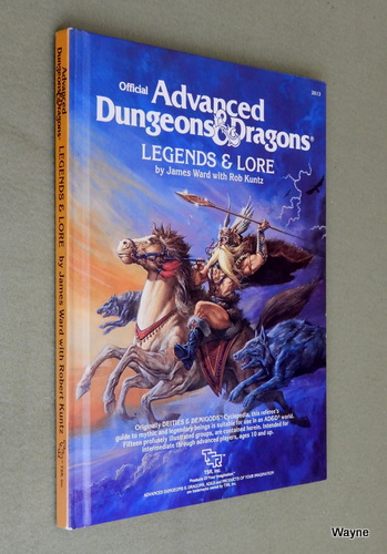 Legends & Lore (Advanced Dungeons & Dragons, 1st Edition), James Ward & Rob Kuntz