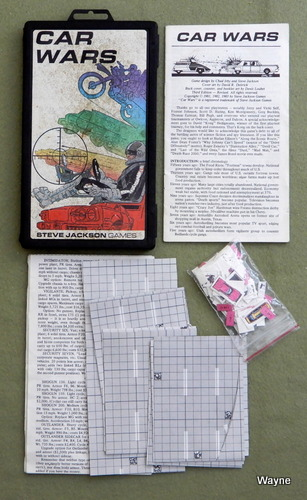 Car Wars (Original Plastic Case Set) - PLAY SET