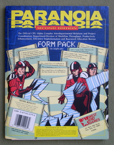 Form Pack (Paranoia, Second Edition)