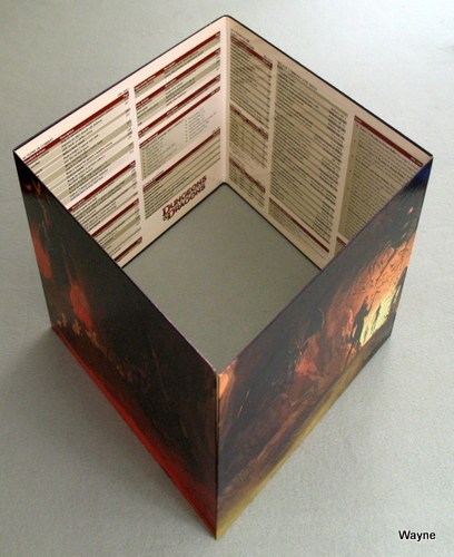 Dungeon Master's Screen (Dungeons & Dragons 4th Edition) - NO COVER SHEET