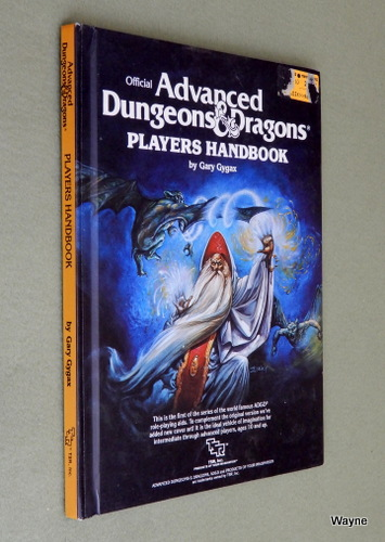 Players Handbook (Advanced Dungeons & Dragons, 1st Edition Revised), Gary Gygax