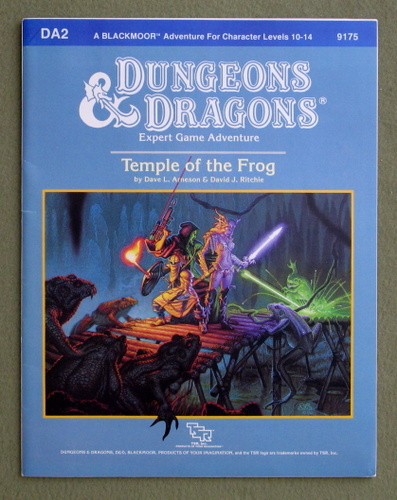 Temple of the Frog (Dungeons & Dragons Module DA2), Dave L. Arneson & David J. Ritchie