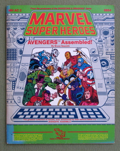 Avengers Assembled! (Marvel Super Heroes module MHAC2) - PLAY COPY, Bruce Nesmith