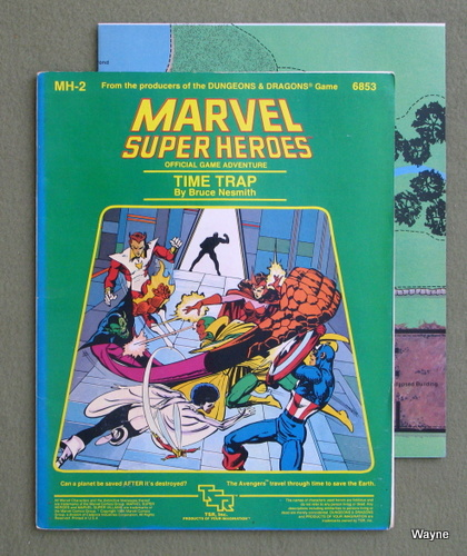 Time Trap (Marvel Super Heroes module MH2) - PLAY COPY, Bruce Nesmith