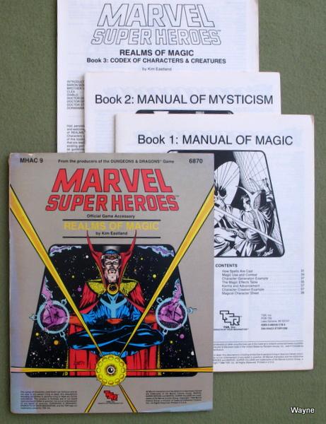Realms of Magic (Marvel Super Heroes Accessory MHAC9) - PLAY COPY, Kim Eastland