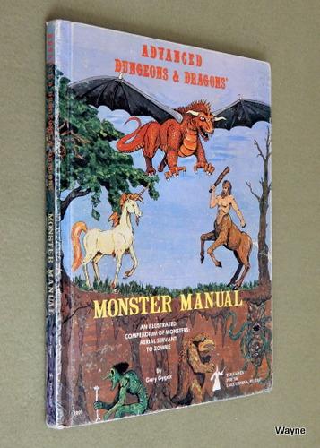 Monster Manual (Advanced Dungeons & Dragons, 1st Edition) - 3RD ALPHA PRINT, Gary Gygax