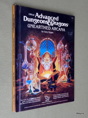 Unearthed Arcana (Advanced Dungeons and Dragons), Gary Gygax
